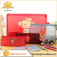 Wholesale fashion design promotional for kids pencil case pvc waterproof zip lock bag