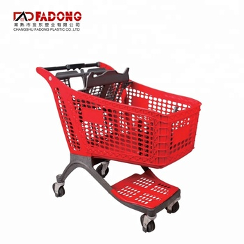 china wholesale plastic supermarket shopping basket trolley carts