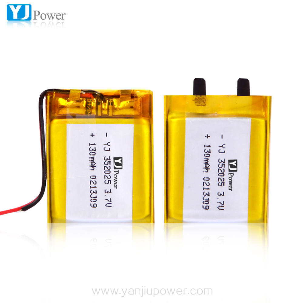 Shenzhen High Energy Density 352025 3.7V 130mAh ~ 150mAh Li Polymer Battery for Portable devices