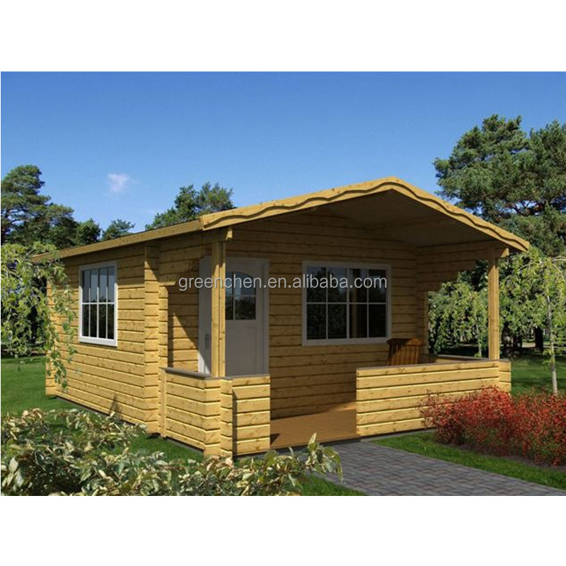Single floor small wooden house design