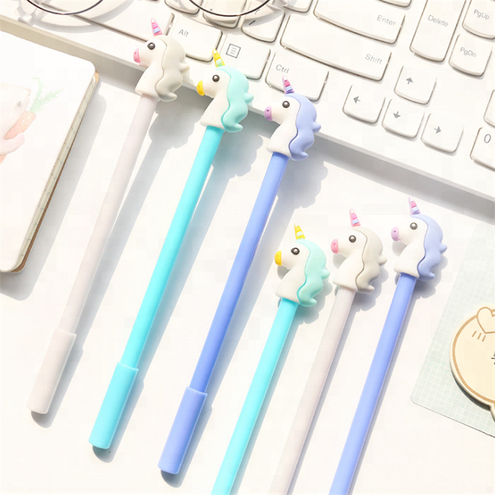 office study rubber unicorn plastic ballpoint <strong>pen</strong>