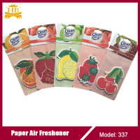 Fruit shape hanging paper car purifier car perfume