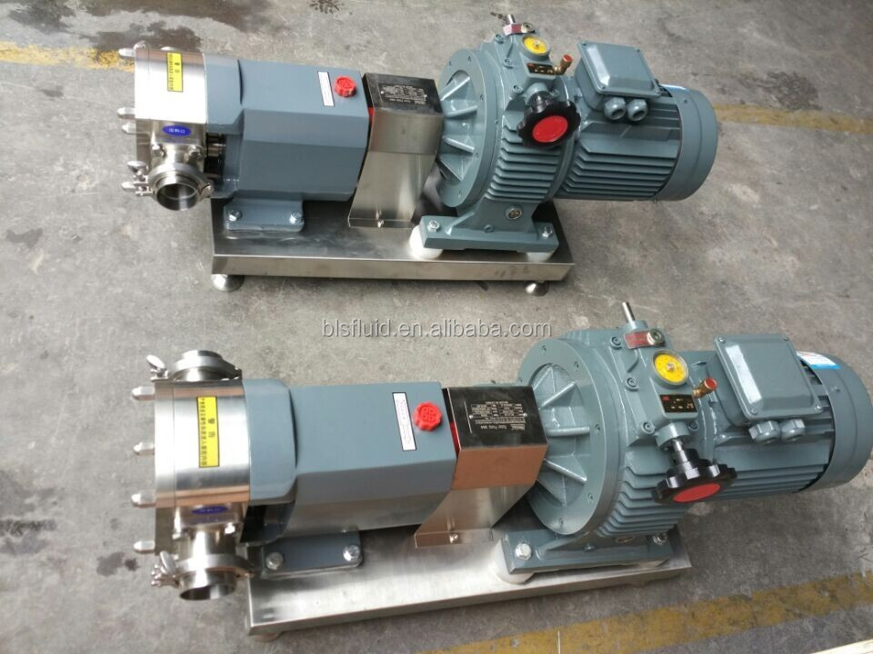 rotary lobe pump/positive displacement pump for chocolate paste