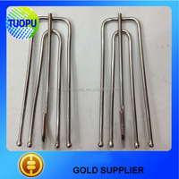 Stainless steel curtain pleat hooks for drapery