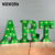 loft style 3D illuminated led light decorative metal letters for holiday