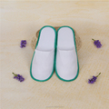 Disposable Hotel Slippers Machine Washable Blue Color Terry Towel Hotel Slippers lady slipper
