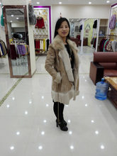 whosesale lady's lovely wools boots fur coat/winter