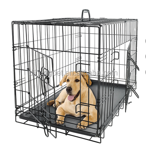 collapsable iron dog transport cage