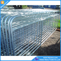 Metal livestock field farm fence gate for cattle sheep or horse / wire mesh farm gate
