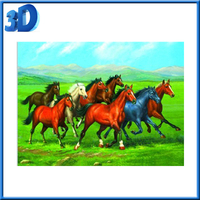 Handmade with deep effect black horse 3d hot pictures