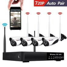 Wifi Home security camera 4ch wireless nvr cctv ip camera kit