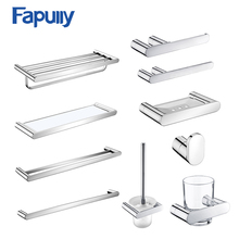 Fapully Paper Holder Toothbrush Holder Towel Bar Bathroom Accessories SUS 304 Stainless Steel Bathroom Hardware Set