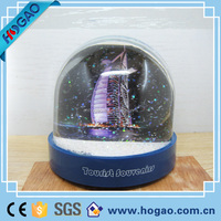 Cheap Custom Water Ball Made Plastic Photo Snow Globe with Bling Snow