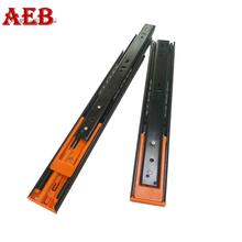 45mm height drawer runners steel ball retainer 3-folds linear guide rail with soft close module