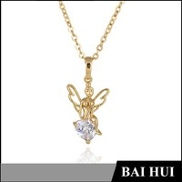 Angle With Wings Latest Designs Saudi Gold Jewelry Necklace/Wholesale Latest Designs Saudi Gold Jewely Necklace