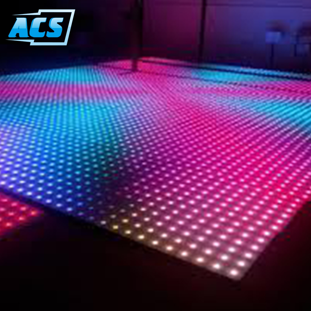 Top Selling Super Slim stage Patent led dance floor tile for wedding party and bar