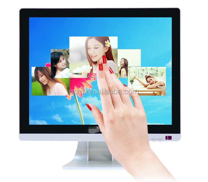 high brightness 15 inch LED touch monitor with 1028 x 768 resolution