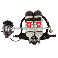 double cylinder compressed air medical portable oxygen breathing apparatus wiht two face mask
