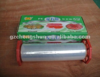 Professional best fresh pe cling film food grade wrap cling film
