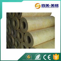 Non flammable rockwool pipe insulation