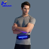 men flashing LED Lycra waist bag for ipad
