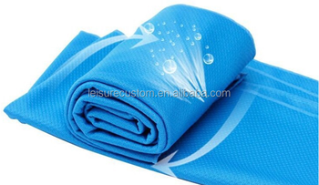 Custom 2017 Magic Polyester Ice Cold Cooling Towel