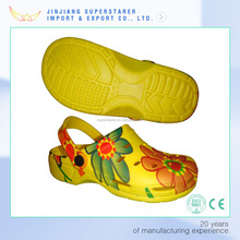 China factory ODM OEM women printed clog, eva clog shoes