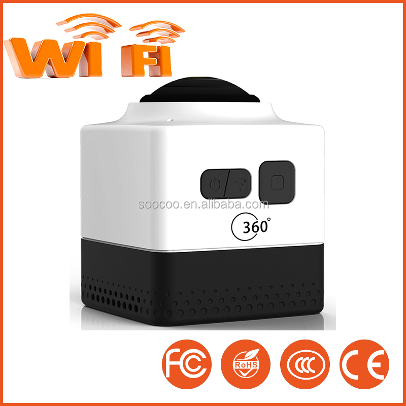 360 Action Camera Cube WIFI H.264 Sports Video 36 Panorama Camera