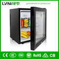 Hot sale glass door hotel mini fridge