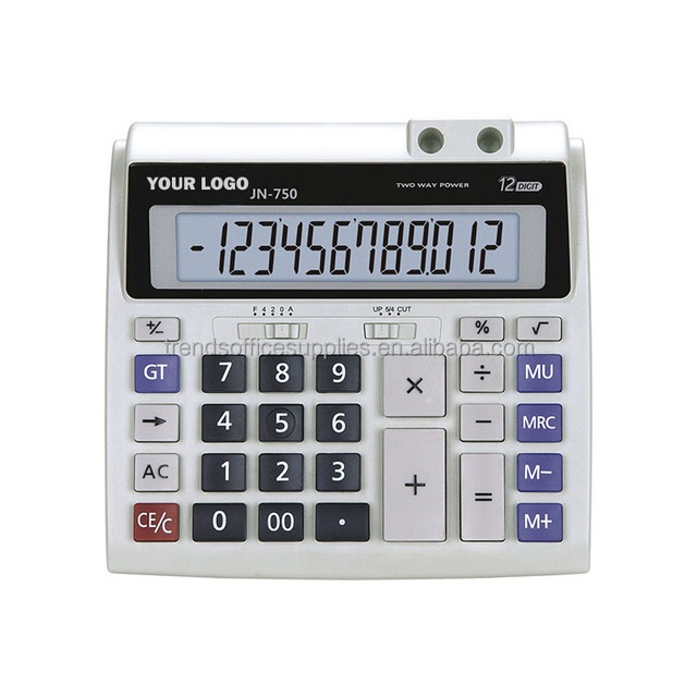 Big size 12 digit Giant Calculator with pen stands/large two way power calculator with big button pc keys