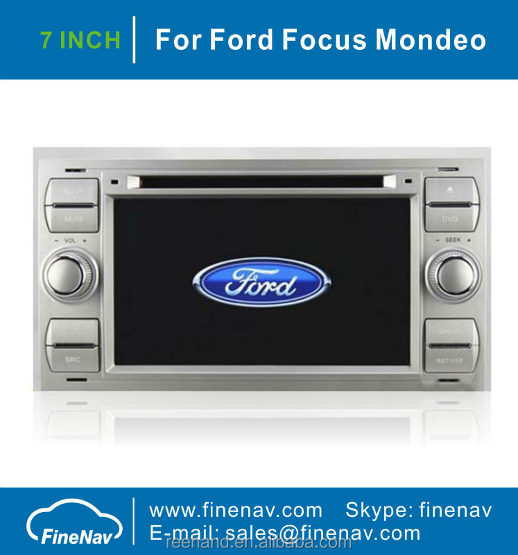 Android 2 Din Car DVD Headunit Player For Ford Focus Mondeo Transit Fiesta With GPS Radio Bluetooth TV iPod 3G Wifi V-20 Disc