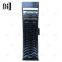 Fashional black metal marble stone display stand rack