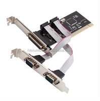 PCI 2 Ports 9pin Serial RS232 com + 25pin Parallel LPT Card