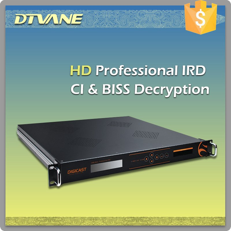 (DMB-9020) DIGICAST Mpeg2/4 SD HD Tuner to HDMI Video Output AES/EBU+XLR+LR Video Integrated Receiver Decoder