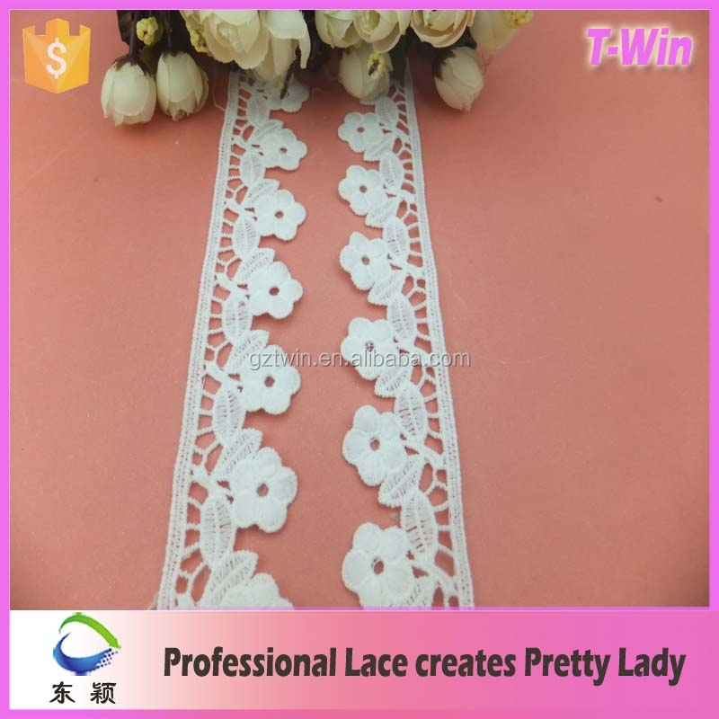 2016 New Fashion tokyo tassel lace Cotton Lace Fabric white lace trim