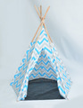 5 poles Customizable Canvas Fabric Teepee Tent Kids
