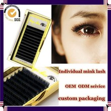 Milkyway wholesale top quality all size J B C D curl thick 100% real mink individual eyelash extensions