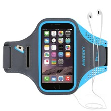 HAISSKY spandex cell phone sports armband case touch screen waterproof case for iphone 6 7 8 8plus 7 plus 6 plus