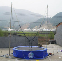 HOT SALE outdoor single bungee jumping/bungee trampoline for kids and adults