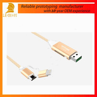 cheap price high speed 2 in 1micro usb cable usb charging cable with otg function for mobile phone