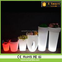 GR1240 Recyclable LED Lighting Plastic Flower Pot/Planter, Garden Pot/Planter