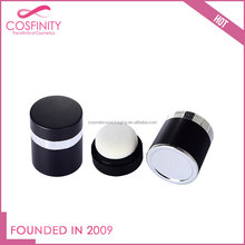 Wholesale makeup packaging black compact containers loose powder jar with sifter