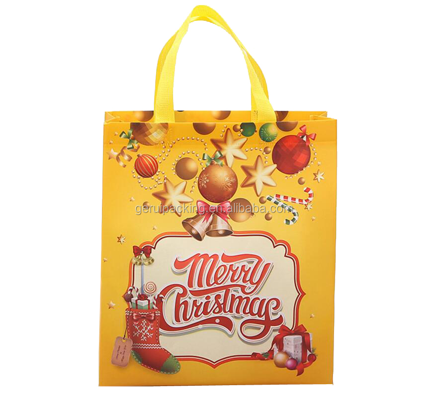 customized fancy cute non woven shopping bag for Christmas Festival