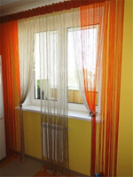 New modern single color sun shade screen window door string curtain