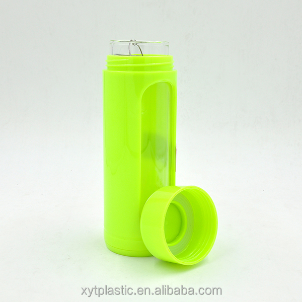 directly drink type glass water bottle with tea infuser