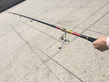 OEM Saltwater Spinning Fishing Rod Carbon Lure Tackle Telescopic Fishing Pole with wheel reel