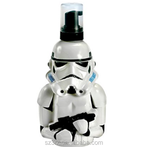 Competitive price 250ml Stormtrooper Schaumbad und Shampoo 3D figur mit spender/custom cosmetic plastic bottle