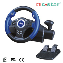 3 in 1 racing wheel video game steering wheel game controller for PC/PS2/PS3