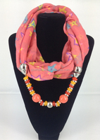 New fashion beaded decorative voile pendant scarf for young lady