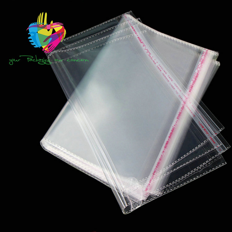 YiWu Resealable transparent custom polybag packaging clear plastic poly opp bags for clothing/garment packaging bag